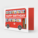 London Bus Birthday Card