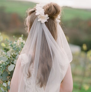 Agnetha Tulle And Lace Motif Veil - enchanted wedding trend