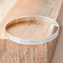 Personalised Men's Large Flat Bangle