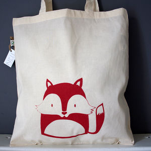 Fox Organic Cotton Tote Bag - women's accessories