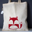 Fox Organic Cotton Tote Bag