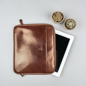 Leather Case For iPad Air2 And iPad Pro. 'The Luzzi' - laptop bags & cases
