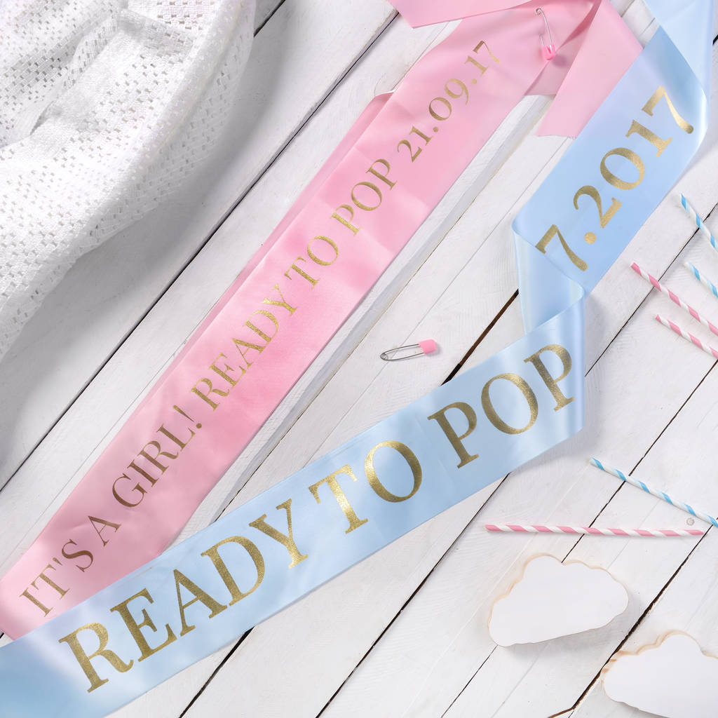 Personalised Baby Shower Sash By The Letteroom Notonthehighstreet Com
