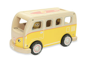 Classic Iconic Yellow Camper Van Wooden Toy