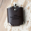 Admiral Hip Flask With Leather Cover