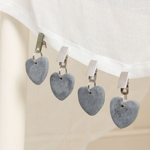 Set Of Four Ombre Heart Table Weights