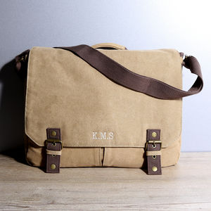 Personalised Vintage Canvas Satchel - gifts for him