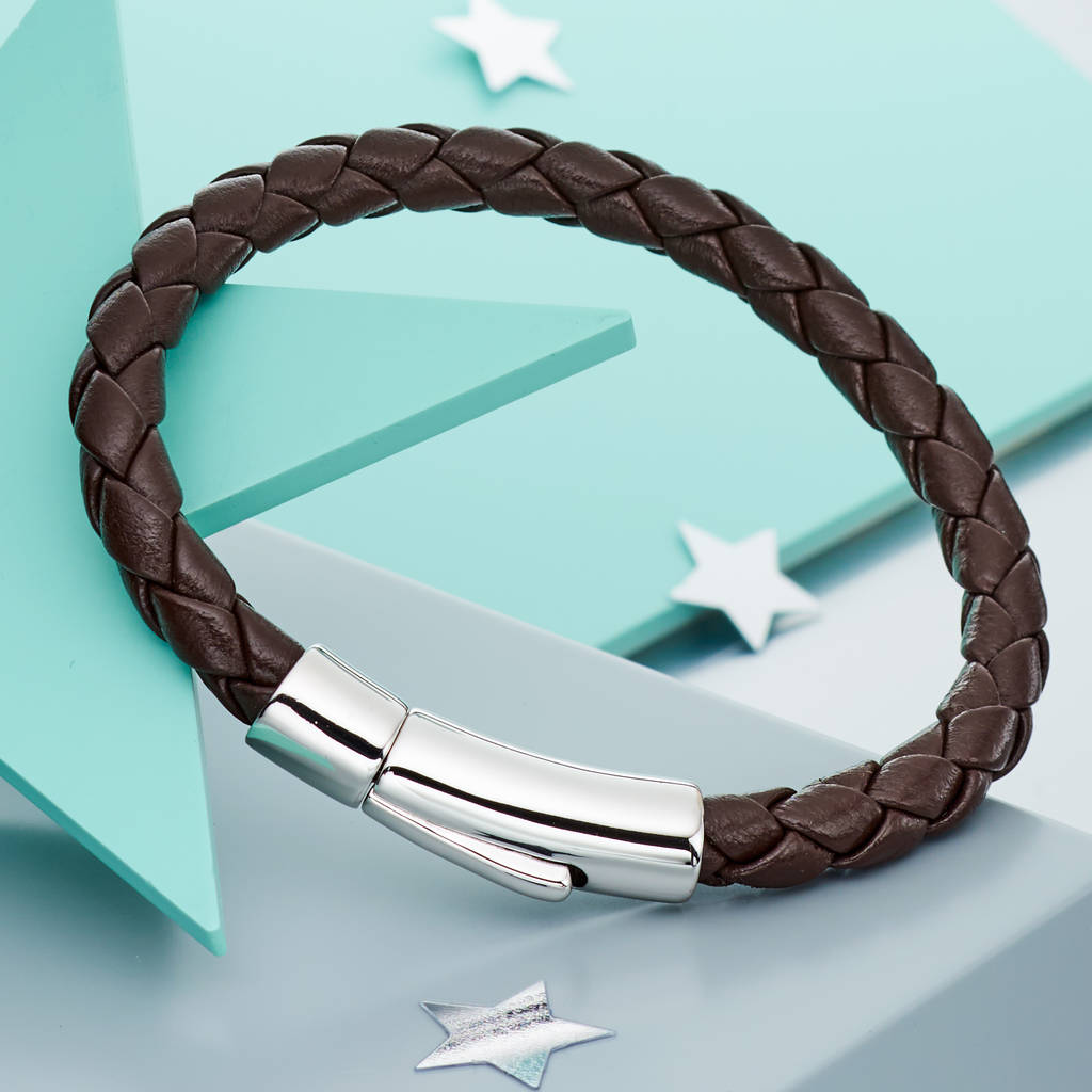 boys bangle gift surfer leather wristband braided mens itm lbb wrap handmade brown bracelet