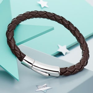 Andre Boys Leather And Silver Bracelet - bracelets