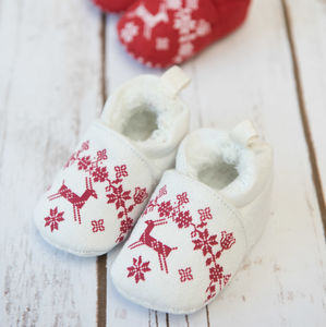 Baby's First Christmas Booties - baby's first christmas