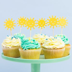 Hello Sunshine Cupcake Toppers