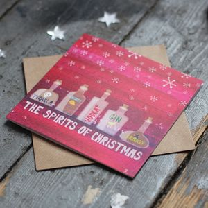 'Spirits Of Christmas Funny Christmas Card'