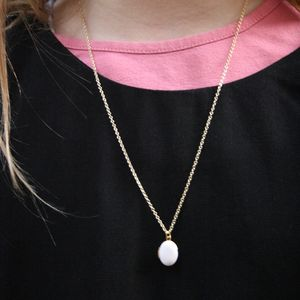 Children's White Locket Necklace