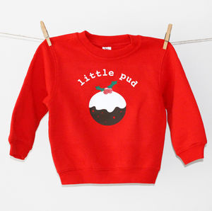 'Little Pud' Christmas Pudding Jumper - children's jumpers