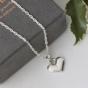 Personalised Solid Silver Love Heart Necklace