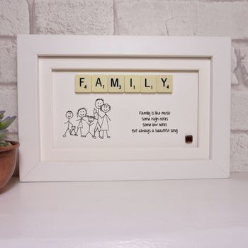 Family Is Like Music Scrabble Art