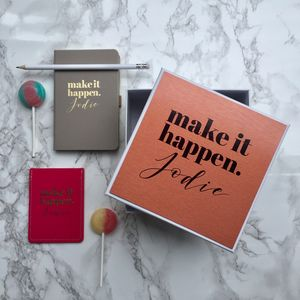 Personalised Make It Happen Gift Set