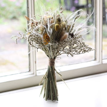 Bridal Posy Vintage Pastel Dried Flowers