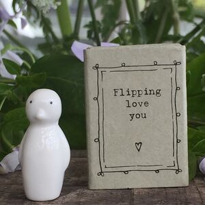 'Flipping Love You' Penguin Letterbox Gift