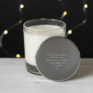 Personalised Christmas Wishes Luxury Scented Candle