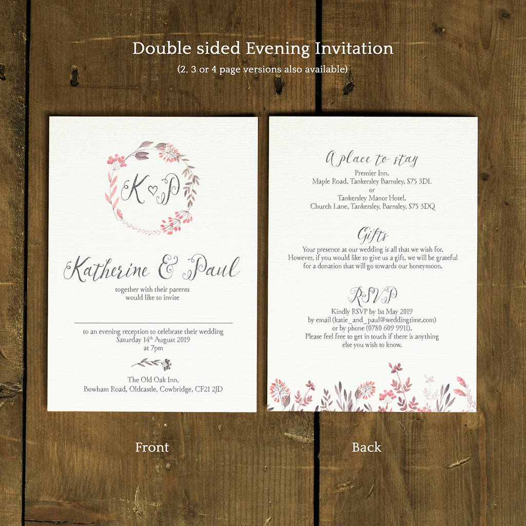 Summer Meadow Wedding Invitation Set By Feel Good Wedding