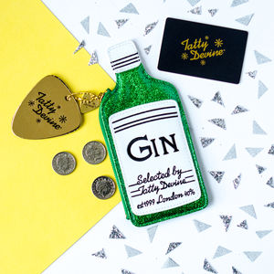 Tatty Devine Gin Bottle Purse - purses & wallets