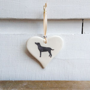 Labrador Hanging Heart - home accessories