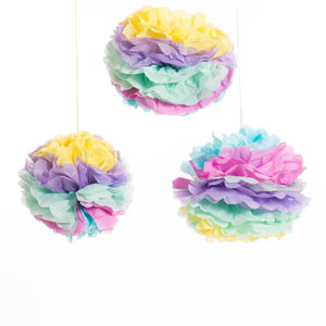 Pack Of Three Multi Coloured Unicorn Pom Poms - decorative accessories