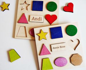 Personalised Geometric Shapes Sorting Puzzle - traditional toys & games