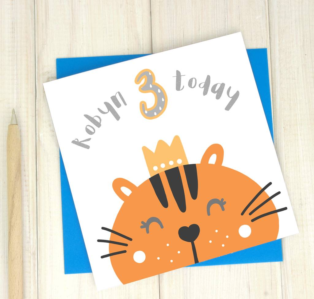 Personalised Party Animal 3rd Birthday Card By Chi Chi Moi