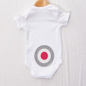 Grey And Pink Bottom Target Babygrow - clothing