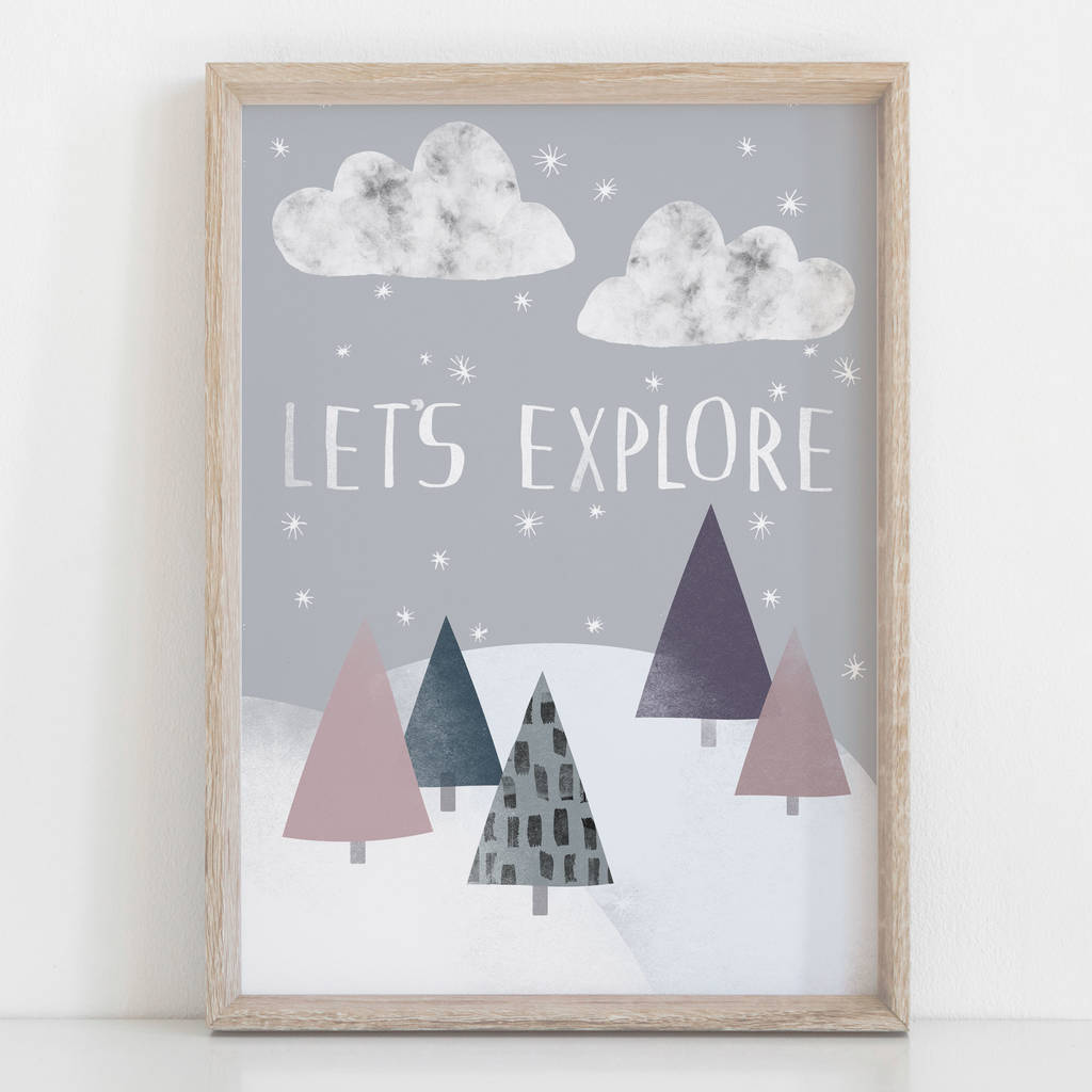 Let's Explore Children's Nursery Print