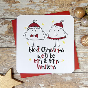 Next Christmas We'll Be Mr And Mrs Card - cards & wrap
