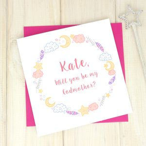 Personalised Be My Godparent Card - shop by category