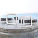 unique handmade square cufflinks