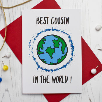 Best Cousin In The World Card