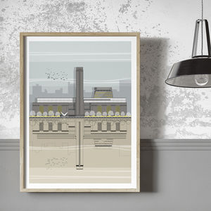Tate Modern Architectural Illustration Print - drawings & illustrations