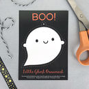 Kawaii Halloween Ghost Ornament Postcard