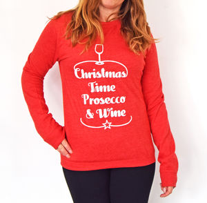 Prosecco And Wine Unisex Christmas Jumper - christmas jumpers