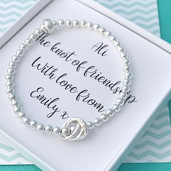 Personalised Friendship Knot Bracelet