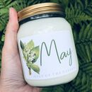 Botanical Flower Birth Month Candle