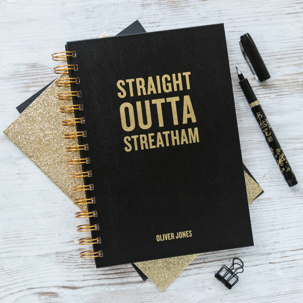 Personalised 'Straight Outta Compton' Notebook