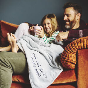 Personalised Snuggle Blanket - gifts for him