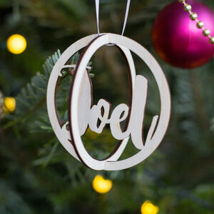 Personalised 3D Bauble Tree Decoration