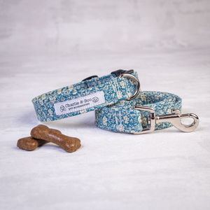 Dog Collar And Lead Set For Boy And Girl Dogs In Blue - dog collars