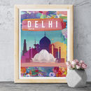 Delhi India City Skyline Art Print