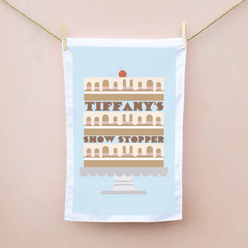 Personalised Cake Tea Towel