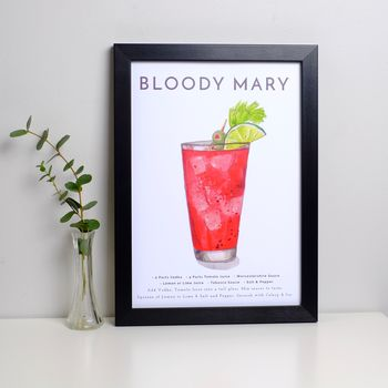 Cocktail Print Bloody Mary