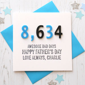 Dad/Daddy Days Personalised Card - personalised cards