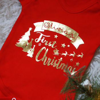 Personalised First Christmas Vest